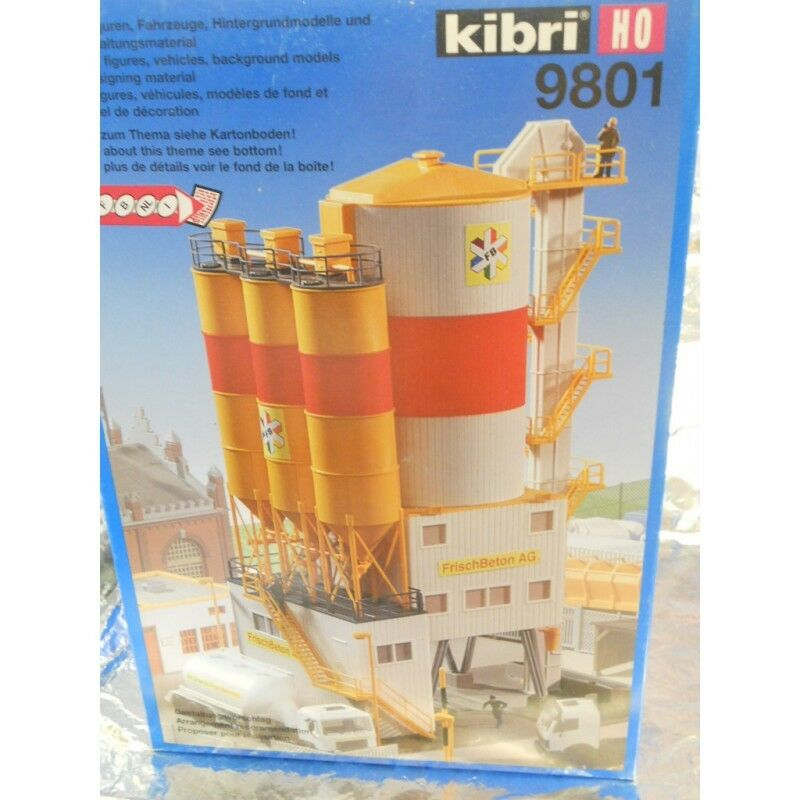 Kibri 9801 Cement Storage Depot Kit 1 87 H0 Scale