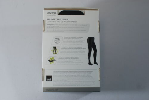 CEP Sportswear Recovery Pro Compression Tights Mens Size II Small Black