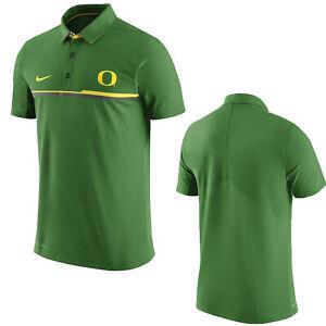 Nike-Oregon-Ducks-Elite-Polo-Coach-Shirt-Apple-Green-Medium-M-32855X-OD5-Dri-Fit