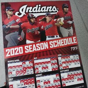 Cleveland Indians Home Opener 2020.Details About 2020 Cleveland Indians Season Schedule Poster 18x24 Tribe