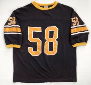 newest 57994 3b926 Vintage 70s 80s Pittsburgh Steelers Jersey Jack Lambert Size ...