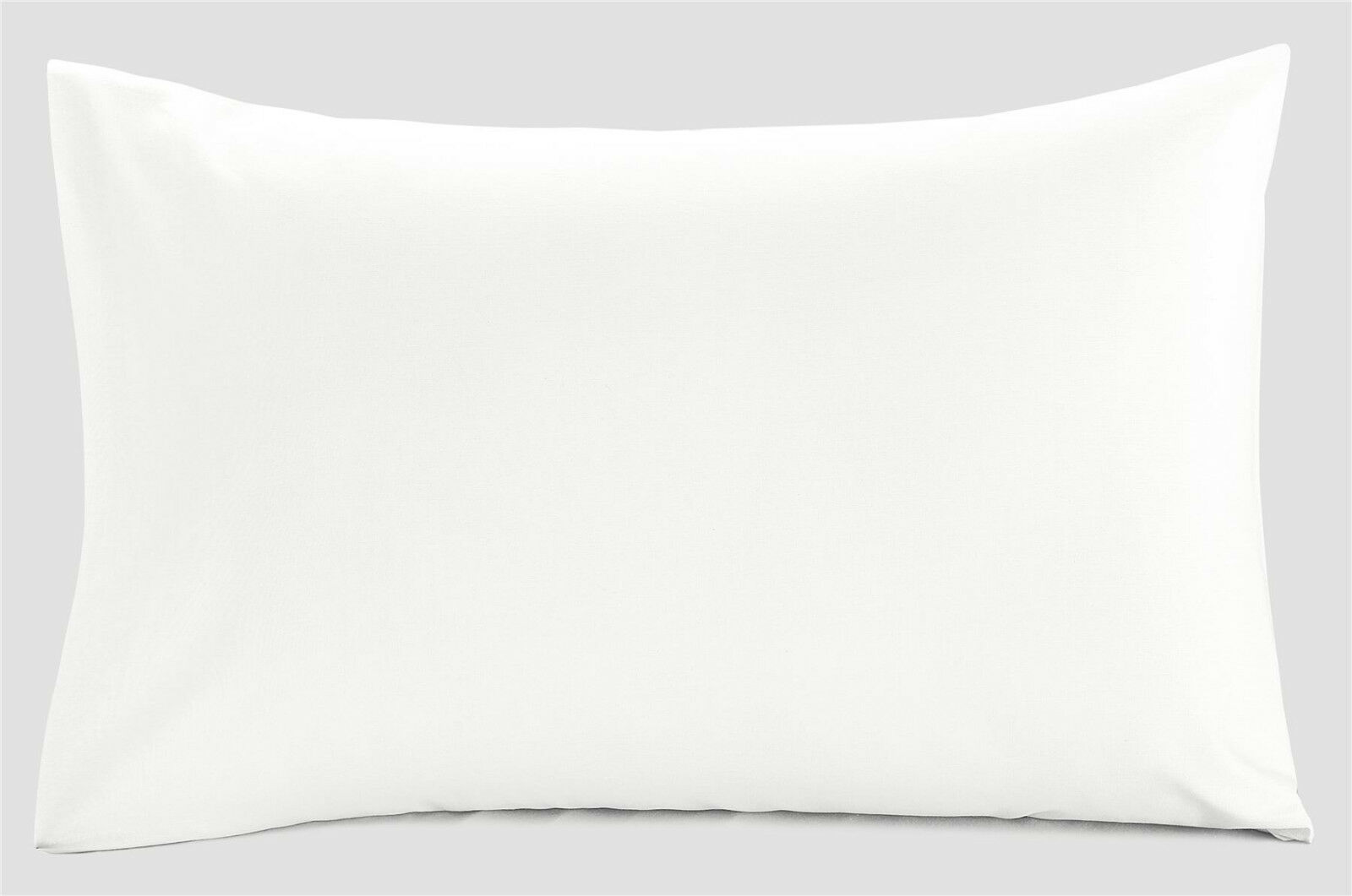 COTONE Egiziano IMPERATORE 400Tc di dimensioni federe per cuscini  20  x 42  cuscini bianca COPPIA Set di 2 15a388