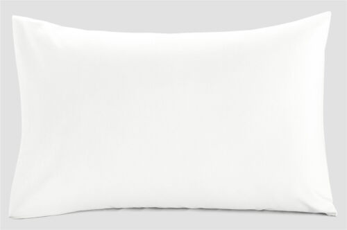 Super King Pillow Cases White Pair Set of 2 Polycotton Superking Size