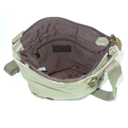 c8e7528633db Gift Crossbody Chala 646492018408 Canvas Messenger Bag Raccoon Beige Patch  Sand 6v1wWqnZv