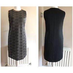 Hugo Boss Womens Dress Black Animal Print Sleeveless Shift Cocktail Uk 12 Party Ebay