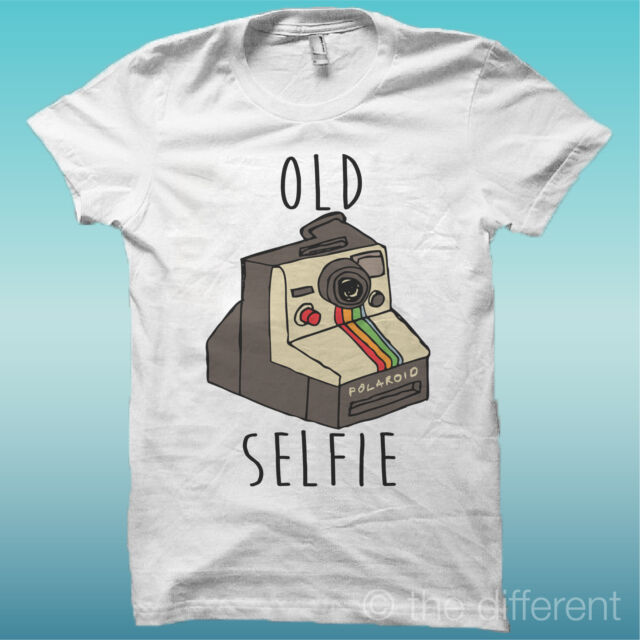 "T-SHIRT MAGLIA UOMO "" OLD SELFIE POLAROID "" IDEA REGALO ROAD TO HAPPINESS"
