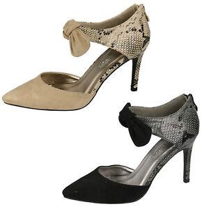 F9746-señoras Spoton De Microfibra Zapatos Tenis 2 Colores-Beige Y Negro-Gran Precio!