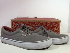VANS Men's Era Pro Size 10 Grey Canvas Suede Casual Skateboarder Shoes X1-725