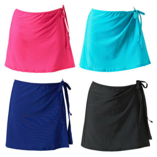 Mode Frauen Gewickelt Schwimmen Rock Bikini Bottom Cover Up Kurz Strandkleid