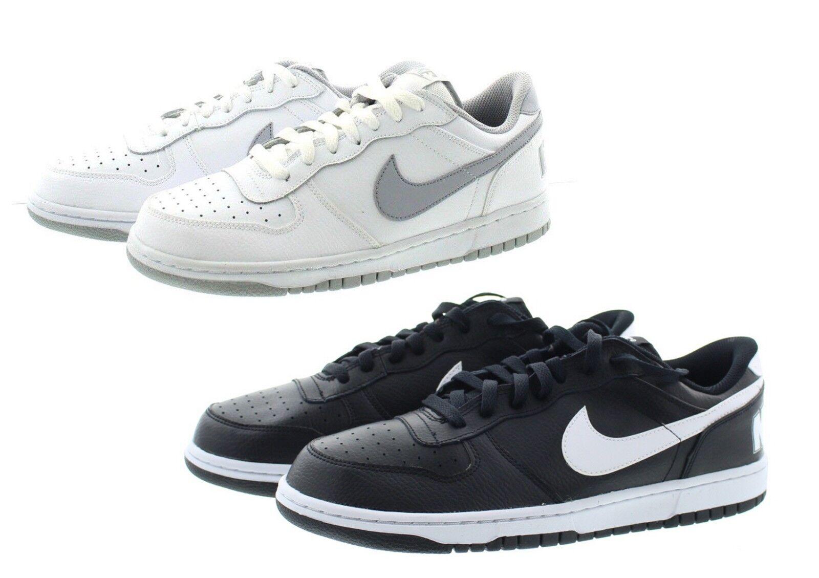 Nike 355152 uomini grande basso alto basket scarpe da ginnastica scarpe nere 016, bianco 106
