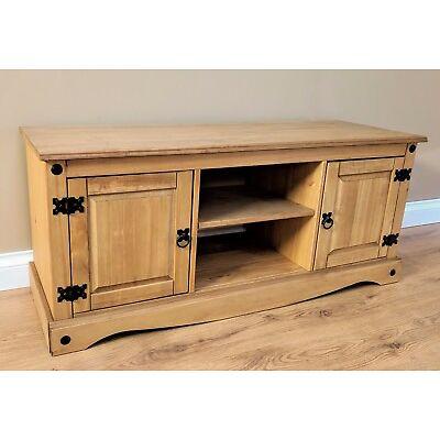 Corona Discount 2 Door 1 Shelf Flatscreen TV Media Unit Pine Mercers Furniture