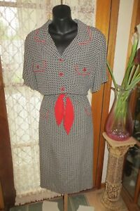 VINTAGE-80-039-s-does-50-039-s-TODAY-039-S-CLASSICS-DRESS-Size-16