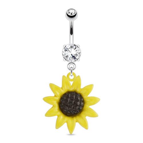 Bauchnabelpiercing Sonnenblume Anhänger Piercing Stecker Banane Stein Kristalle