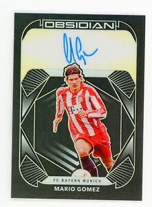 2020-21 Obsidian Soccer Mario Gomez Autograph Yellow /10 FC Bayern Munich
