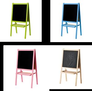 Ikea Collection Chevalet Tableau Noir Tableau Blanc Tableau Noir Double Faces Beaucoup De Couleurs Neuf Ebay