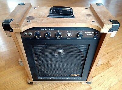crate cr 1r by slm rare 1970s usa guitar amplifier combo amp 20 watts 1x12 ebay. Black Bedroom Furniture Sets. Home Design Ideas