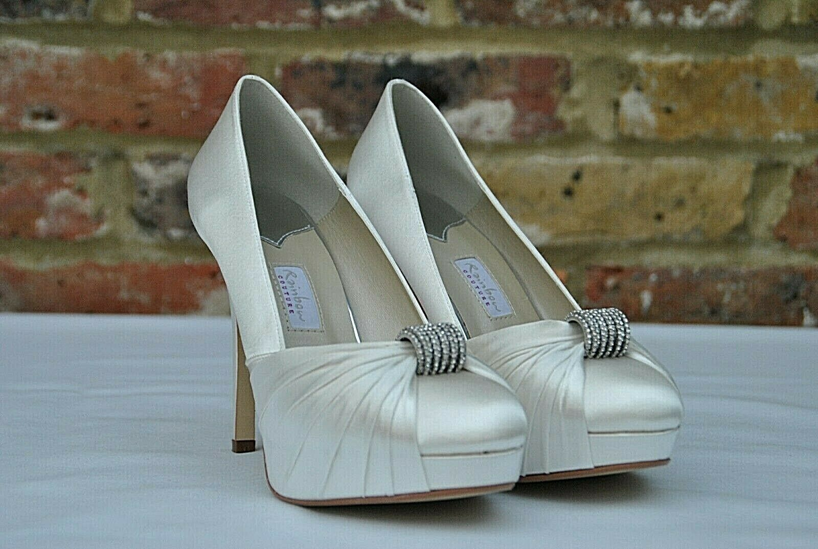 New RAINBOW COUTURE bridal shoes ALESSIA uk 7 euro 40 ivory RRP +