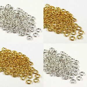 200-450pcs-Gold-amp-Silver-Plated-Metal-Super-Strong-Jump-Rings-6-7-8-9-10mm