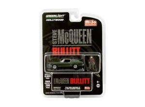 Greenlight-1-64-Scale-Bullitt-1968-Ford-Mustang-Steve-McQueen-with-Figure-51207