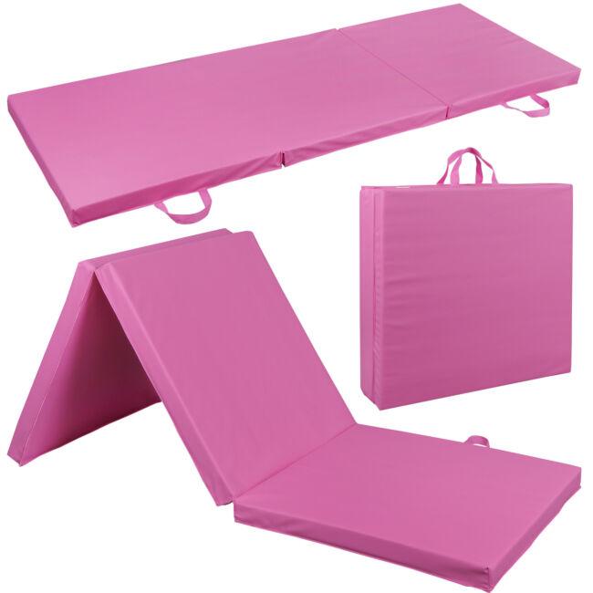 Thick Soft Tri-Fold Panel GYM Yoga Pilates Fitness Exercise Mat Gymnastics Mat