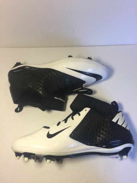 best cheap 6310c 582ac Nike Lunar SuperBad Pro D Football Cleats Men s SZ 16 White Black New R7-3