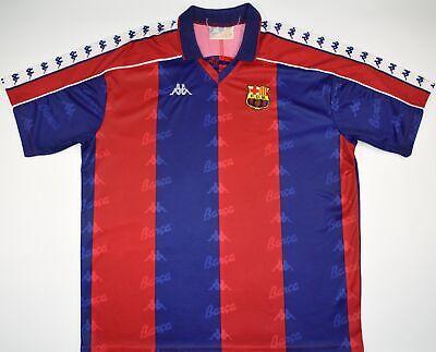 promo code 1bf25 fb904 1992-1995 BARCELONA KAPPA HOME FOOTBALL SHIRT (SIZE XL) | eBay