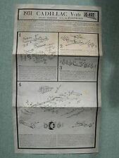 MAQUETTE MODEL : PLAN MONTAGE / ASSEMBLY PLAN : JO-HAN CADILLAC V 16 1931 SPORT