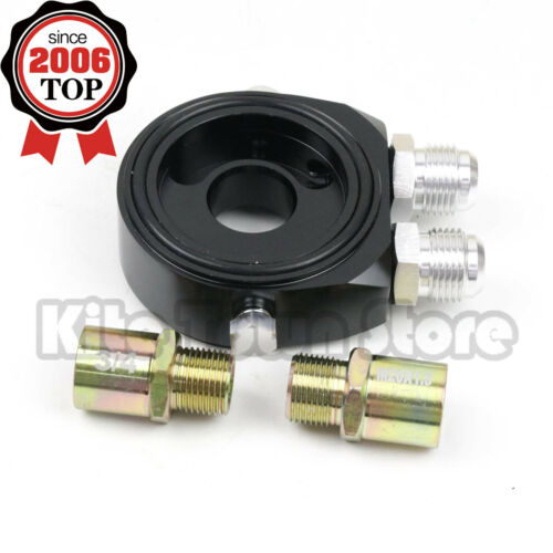M20 X 1.5 Oil Filter Cooler Relocate Adapter Sandwich Plate Sl Inlet Outlet 10AN