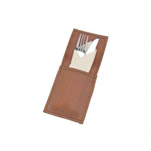 Bestecktasche Behälter Edel Kupferfarbene Tisch Deko Serviettentasche 10x23cm