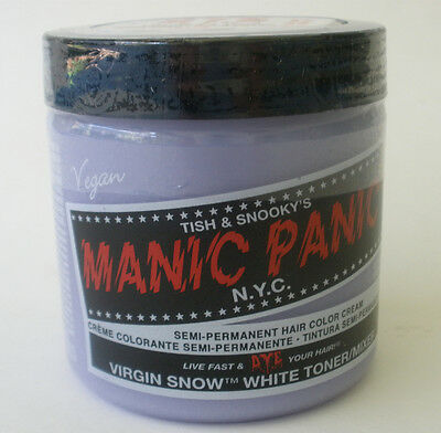 Manic Panic VIRGIN SNOW WHITE TONER for Bleached Hair FREE GLOVES