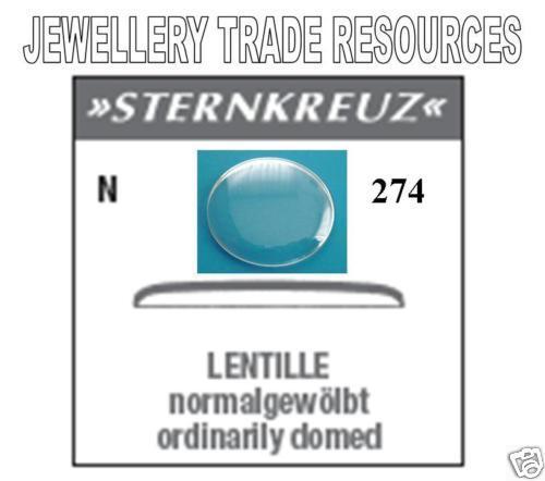 27.4 mm Remplacement Verre de Montre Crystal-Low Dome