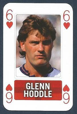 PLAYING CARD-ENGLAND FOOTBALLERS-2010-TOTTENHAM-MONACO-GLENN HODDLE-REF#6H