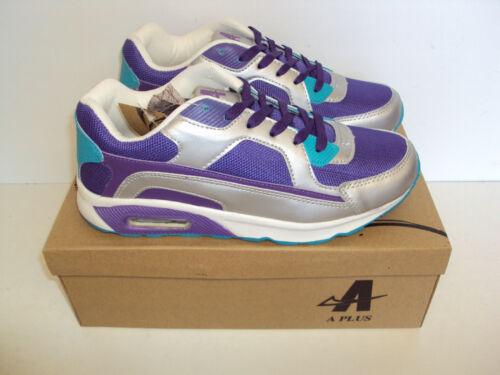 Señoras Zapatillas Nuevo Púrpura Plata Turquesa Correr Deportes Zapatos Tallas 3 4 5