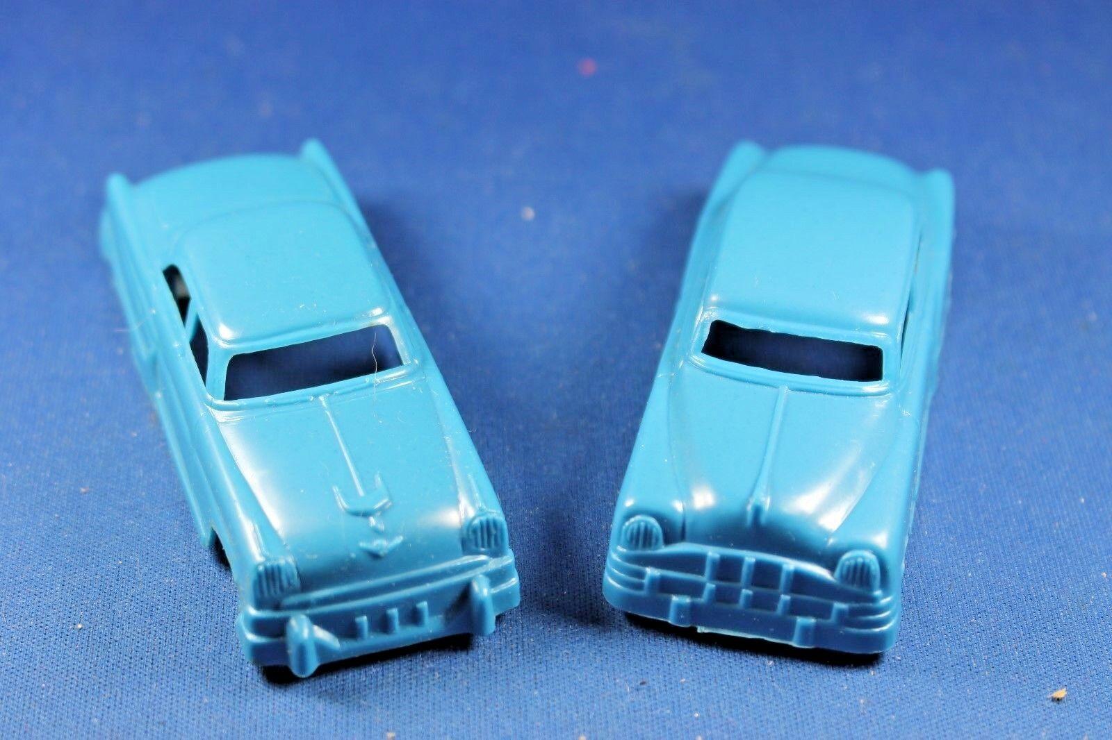Plasticville-O-O27 -  V-6 - Azul Oscuro Original Vintage Autos-difícil de encontrar Colors