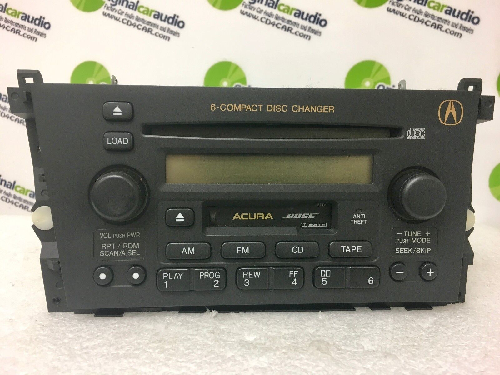 01 03 acura tl oem bose radio 6 disc cd changer tape. Black Bedroom Furniture Sets. Home Design Ideas