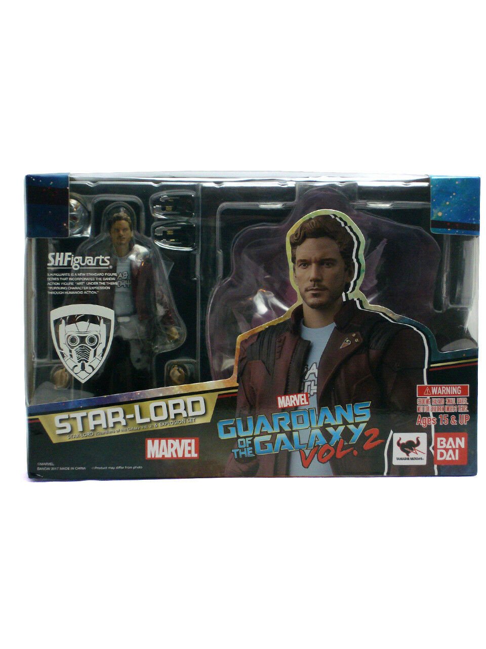 Bandai S.H. Figuarts Star-Lord Figure Tamashii Guardians Of The Galaxy Vol 2 New