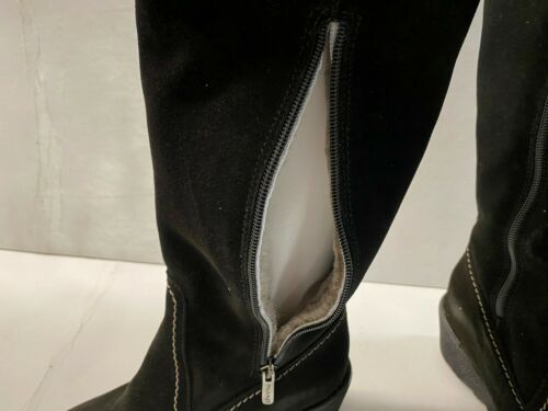 Pajar Black Suede Canadian Hand Made Boots with Zippers Bravo Choose Your Size