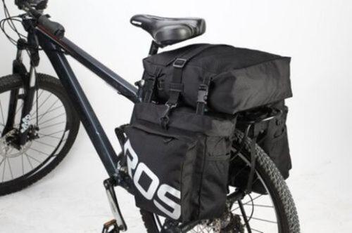 ROSWHEEL 37L Durable 3 in1 Bicycle Bike Rear Pannier Bag with Rain Cover Premium