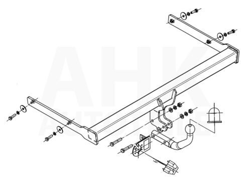 AHK Kpl. Skoda Octavia II Kombi 05-13 Anhängerkupplung starr+ES 13p spez
