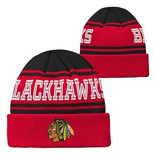 ecd50196a0f Image is loading NHL-Chicago-Blackhawks-Youth-Kids-Cuffed-Winter-Knit-