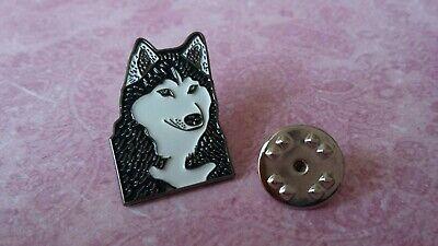 NEW HUSKY DOG HEAD ENAMEL PIN BADGE