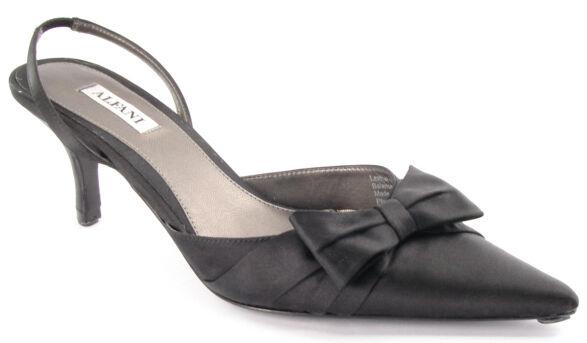 New ALFANI Heel Donna Evening Satin Dress Slingback Pump  Heel ALFANI Pointy Toe Shoe Sz 7 M 1d05f1