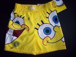 Spongebob-Swimsuit-Swimwear-Trunks-Bathing-Suit-Boys-2T-3T-4Toddler-UPF-50-NWT