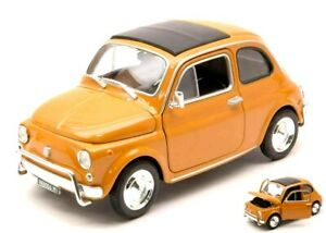 Model-Car-Fiat-500-L-500L-Scale-1-24-diecast-modellcar-Static-Yellow-New