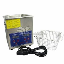 110V 80W Digital Ultrasonic Cleaner 2L Cleaning Machine with Basket for Clean
