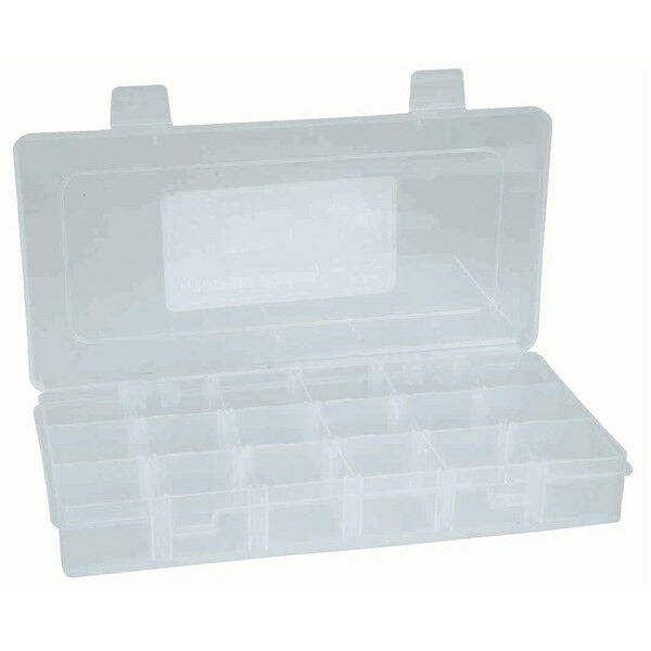 NEW 18 Compartment Storage Box removable dividers Plastic HB6306