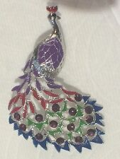 Peacock Bird Pin Brooch Rhinestone Crystal Rhinestones Fashion Jewelry Enamel s