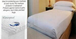 King-Size-Waterproof-Zippered-Vinyl-Mattress-Protector-Hypoallergenic-Bed-Cover