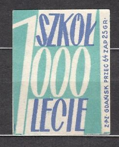 POLAND-1959-Matchbox-Label-Cat-Z-136a-rr-1000-Schools-for-1000-years-Polish