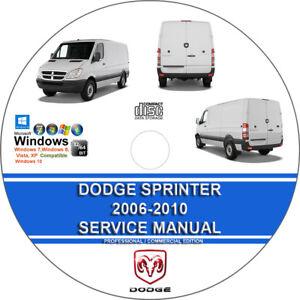 dodge sprinter 2006 2007 2008 2009 2010 service repair manual on cd rh ebay com 2008 dodge sprinter 3500 service manual 2008 dodge sprinter owners manual